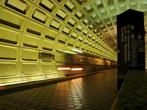 The names of some Metro stations - like this one - have grown excessively long, riders say.