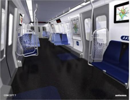 These are renderings of what Metro's new train cars will look like.