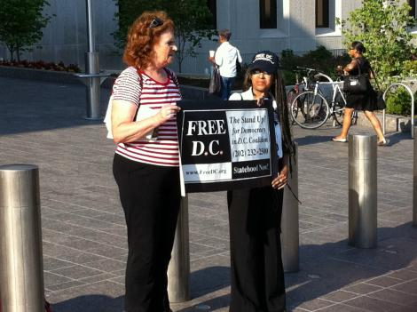 A few supporters of Ward 6 ANC Commissioner Keith Silver turned up at D.C. Superior Court July 13 to show support for the D.C. autonomy protester.