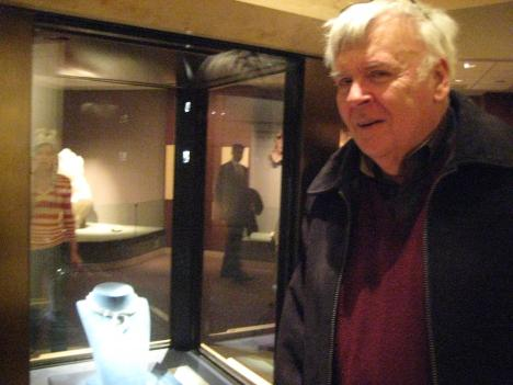 Historian Paul Dickson with the Hope Diamond; he remembers all the sensational newspaper stories about the so-called curse of the infamous stone.