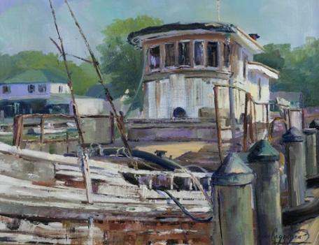 Plein air painters bring picturesque scenes to Easton, Maryland this week.