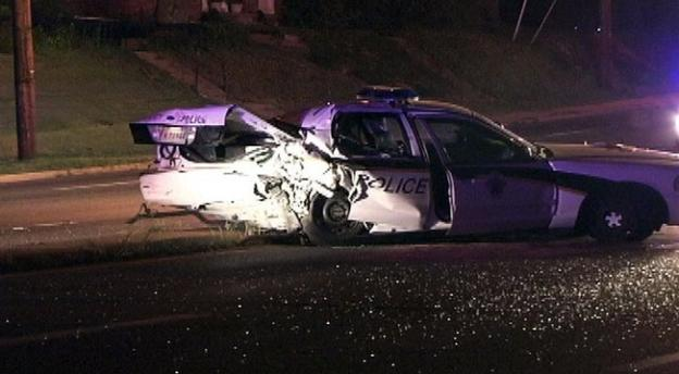 Authorities are investigating the cause of an accident involving a Montgomery County Police cruiser and another car on Colesville Road around midnight July 19.