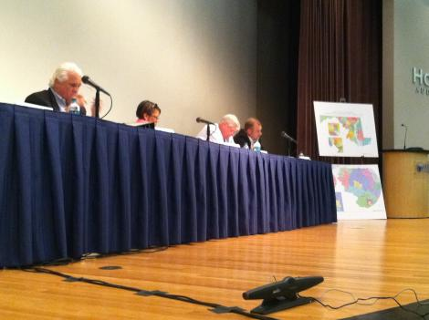 Maryland officials who are reshuffling the state's congressional districts are listening to comments from the public.