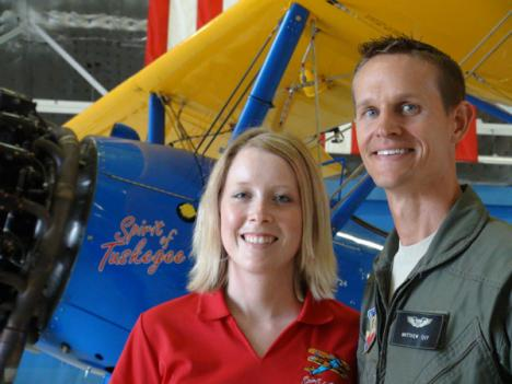 Capt. Matthew Quay is a former bomber pilot who bought the damaged plane on eBay and restored it over three years with help from his wife.