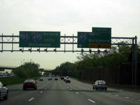 The Maryland State Highway Administration is installing speed cameras on a stretch of the Capital Beltway for the next few months while resurfacing work is ongoing.
