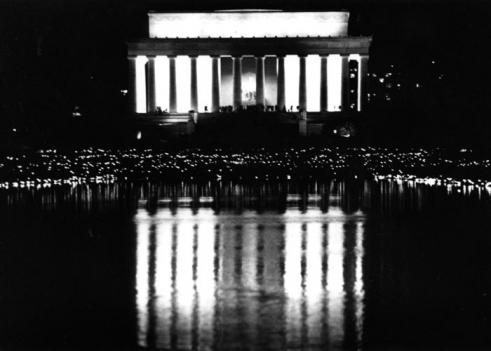 1989 - Candlelight Vigil for AIDS at the Lincoln Memorial.