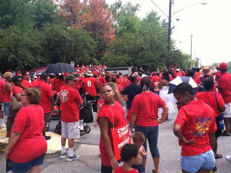 Verizon workers planned demonstrations at more than a dozen locations in the District and Maryland.