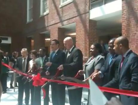 D.C. Public Schools' chancellor Kaya Henderson took part in a ribbon cutting Aug. 18 ceremony to celebrate Woodrow Wilson High School's renovation.