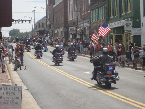 The hundreds of riders participating in America's 9/11 Foundation tribute are heading to New York today on the final leg of their journey to Ground Zero.