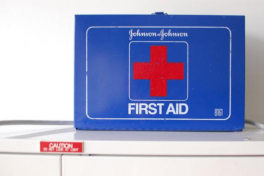 A First Aid kit is among the supplies the National Weather Service recommends keeping on hand during a storm.