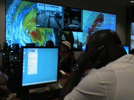 Emergency officials in the District are monitoring the storm's movement as it makes its way up the East Coast.