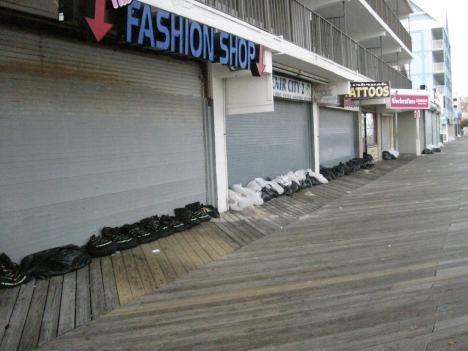 Ocean City residents evacuated in advance of Hurricane Irene.
