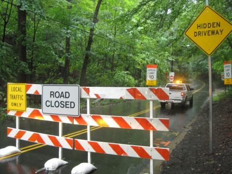 Some bridges in the D.C. metro area are closed due to high waters.