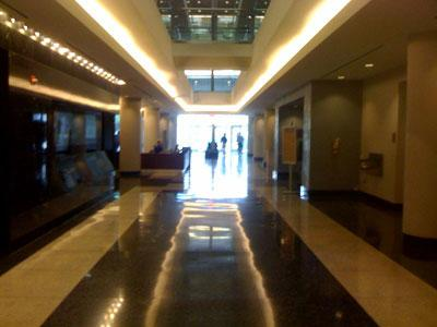 The lobby of the Arlington County Government Center will soon get a panel explaining energy use and carbon consumption.