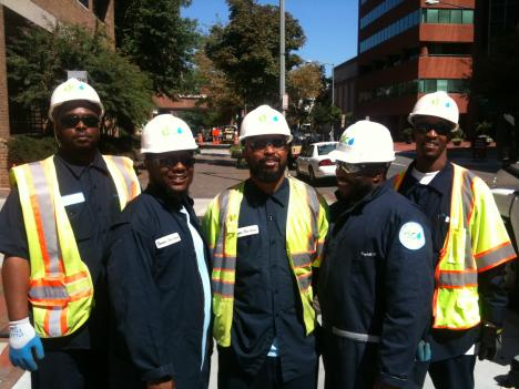 The SAM 101 team (Sewer and Maintenance) is a tight knit crew.  Left to right: Tyrone Johnson (Too Fly Ty), David Young (Big Soup), Kevin Tucker (KT), Mark Cargill (MC), Daryl Payne (Uncle D).