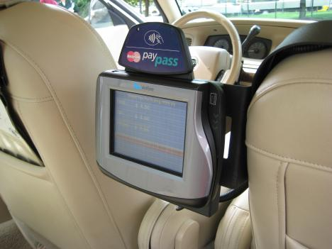 Touch-screen video devices will soon be popping up in some Maryland cabs.