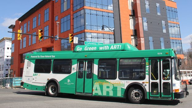 An ART bus on Columbia Pike, which is the busiest bus corridor in Virginia.