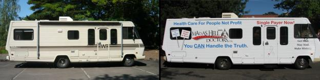 The Mad As Hell Doctors have arrived in D.C. today to rally for a single-payer health care system.