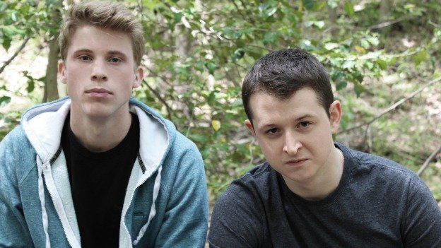"William Vaughan and Chris Stinton star in Hub Theatre's ""Abominable,"" a play about school bullying."