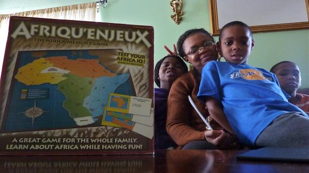 Paulette Mpouma, the creator of The Africa Memory game, plays the learning game to teach her children about African history and geography. In the three years since she first thought of the game, she has sold nearly 4,000 games.