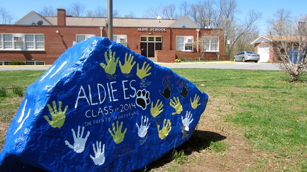 Aldies most recently graduating class left their mark on the school in Loudoun County, Virginia.
