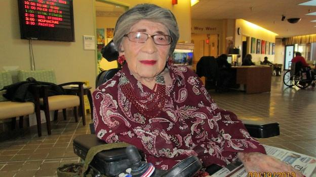 Alyce Dixon is a 105-year-old World War II veteran.