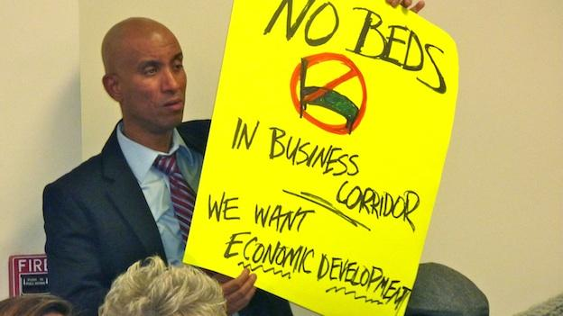 Some Anacostia residents are protesting plans to build a new shelter in their neighborhood.
