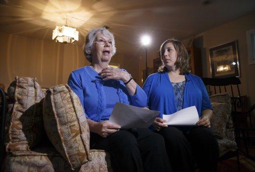 Warren Weinstein's wife Elaine (left) and daughter Jennifer Coakley have been missing him since August 2011, when he was captured by militants in Pakistan.