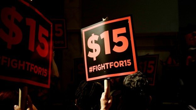 Social justice and labor groups across the country have been pushing cities and states to adopt a $15 minimum wage.