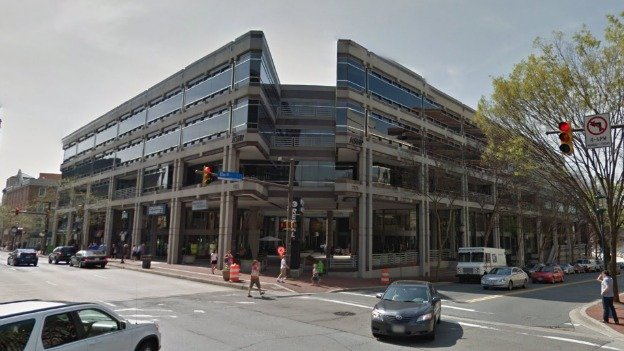 The Apex building is located at Wisconsin Avenue and Elm Street in Bethesda.