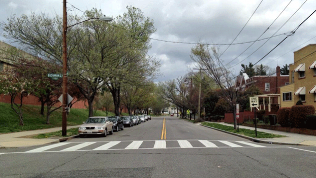 Residents of 16th Street Heights say walking on the crosswalks on this stretch of Arkansas Ave. comes with risks.