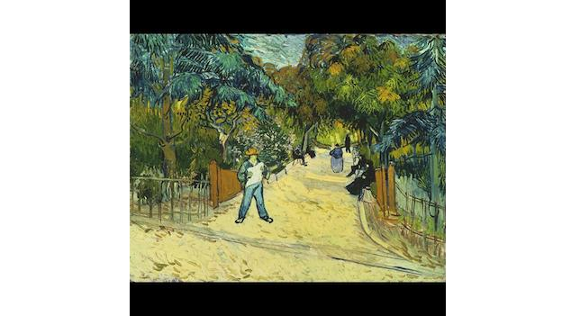 Entrance to the Public Gardens in Arles (1888) is one of 35 paintings and works on paper in Van Gogh Repetitions.