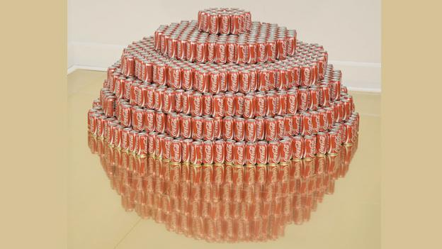 Not just soda cans! Soda cans about space travel! 'Are We There Yet?' goes intergalactic at Corcoran Gallery of Art.