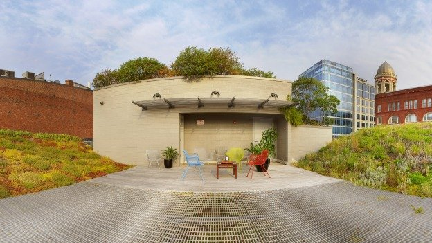 The ASLA building's green roof is a feature considered the building's crowning achievement.