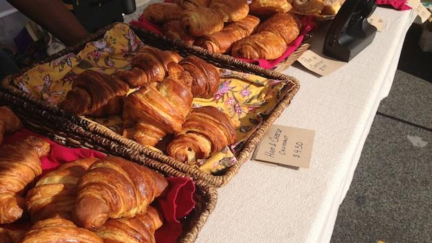Frenchie's Artisan Pastries and Desserts, ownded by Erica Skolnik, operate up a croissant stand weekly at the H Street Farmers Market.