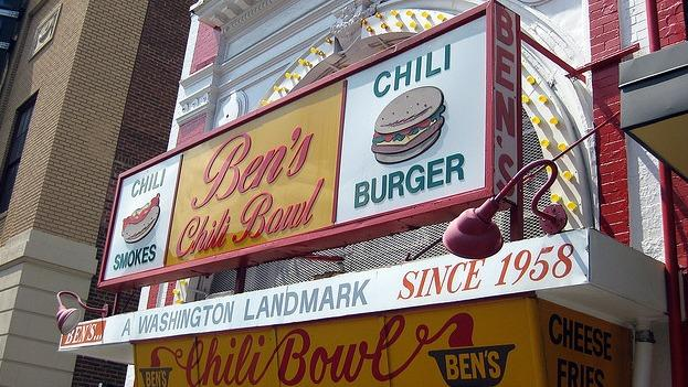 Ben's Chili Bowl is a popular hangout in the U Street area, which is a nightlife destination for many local revelers.