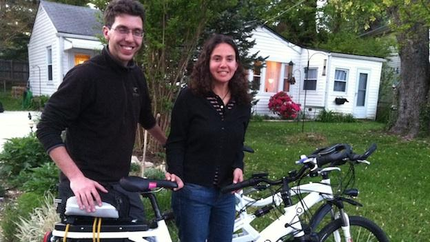 Boris Mordkovich and Anne Mostovetsky are on a 4,000-mile journey across on the country... on their electric bicycles.