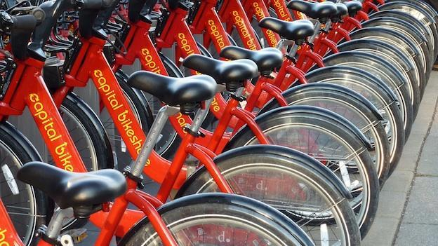 The iconic red bikes—1,650 of them—are available at 175 stations in D.C., Arlington and Alexandria.