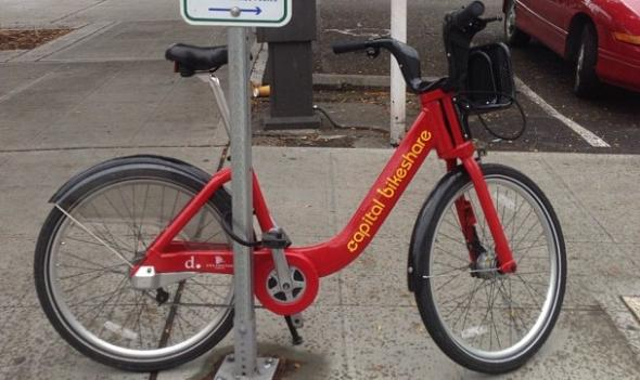 This Capital Bikeshare bike was spotted in Washington... state.