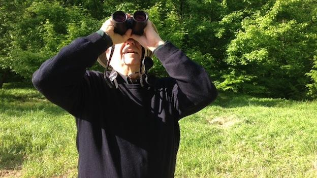 Avid birder Wallace Kornack in Rock Creek Park.