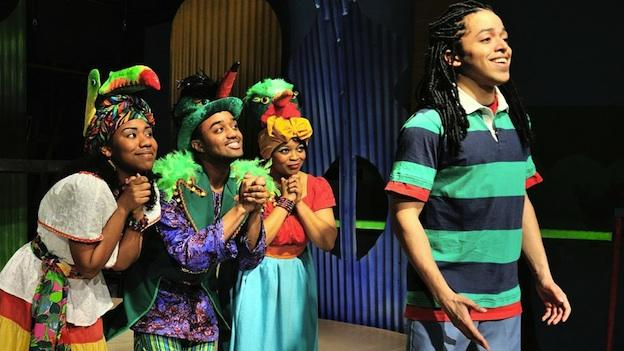 "The three title characters in the musical are always telling Ziggy that ""every little thing is gonna be all right."" (From left to right: Tara Yates-Reeves, David Little, Ayanna Hardy, Jobari Parker-Namdar)"