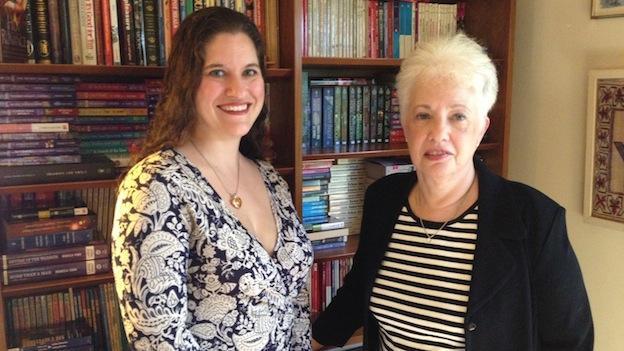 Authors Amanda Brice and Rebecca York.
