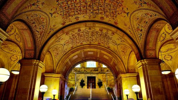 Rafael Guastavino's tile vaulted ceilings changed the face of American architecture. The Boston Public Library was his company's first project.