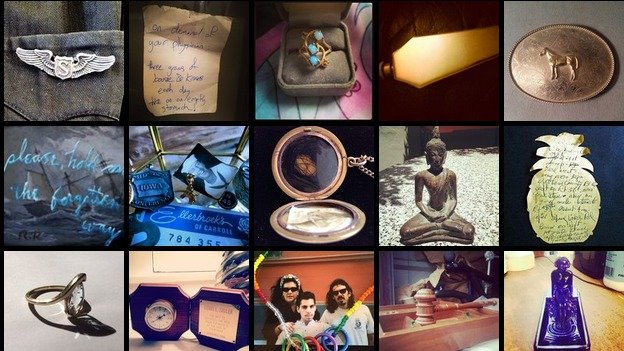 """For IN THESE BOXES, musician and artist Dudley Saunders is collecting images of relics to create a """"social media cemetery."""""""