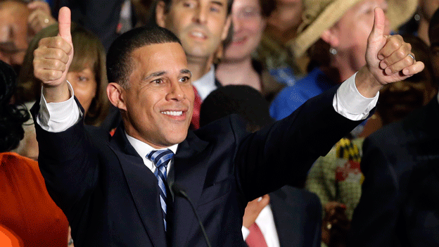 Maryland Democratic gubernatorial candidate Lt. Gov. Anthony Brown at his election party in College Park, Md.