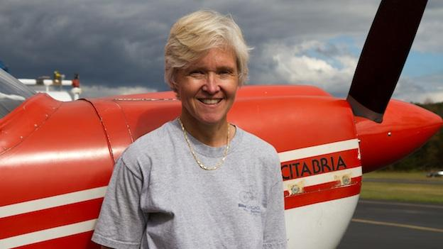 Flight instructor Marianne Buckley.