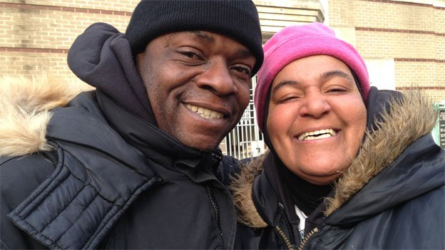 Bryon Hawkins and Davinia Miles-Hawkins are still without a home.