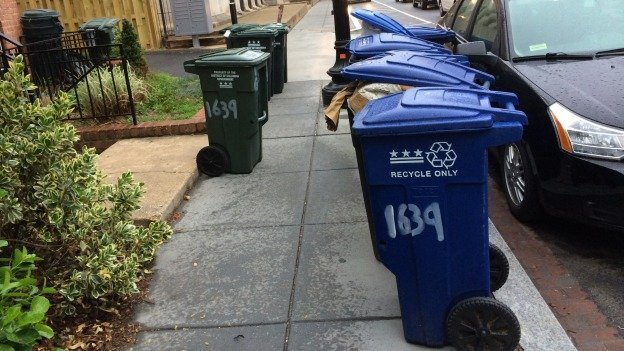 Getting new trash cans hasn't been a problem for many D.C. residents, but getting rid of old ones has.