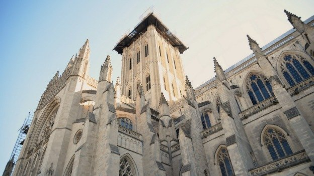 Like the Washington Monument, the National Cathedral was damaged by the August 2011 earthquake.