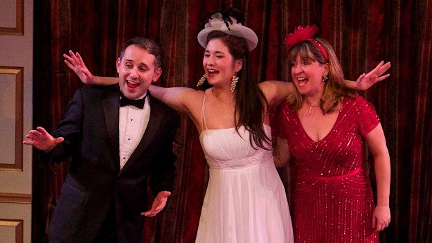 (L to R) Joseph Haughton, Sarah Anne Sillers and Tammy Roberts sing a Cole Porter tune.